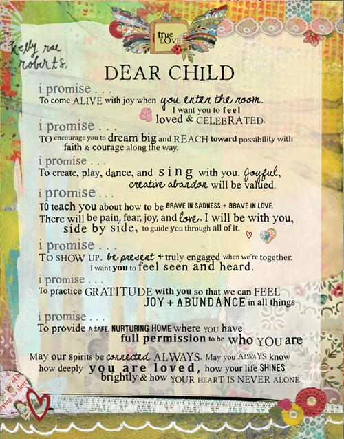 dear child (manifesto)