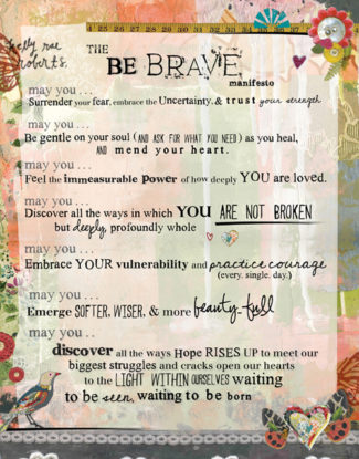 be brave (manifesto)