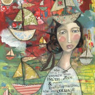 Voyage toward truth - Kelly Rae Roberts