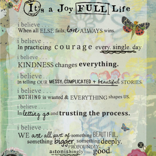 It's a Joy Full Life Manifesto - Kelly Rae Roberts - prints - Manifestos