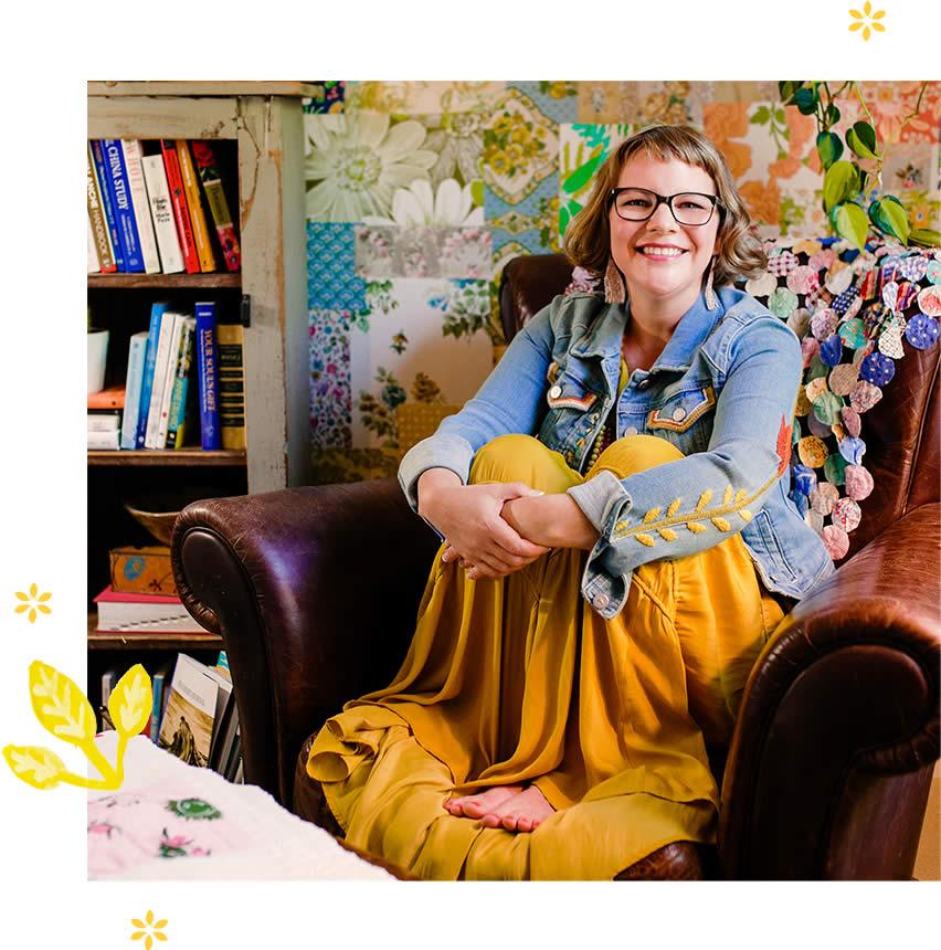 Kelly Rae in chair