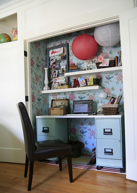 my office (in a closet!)