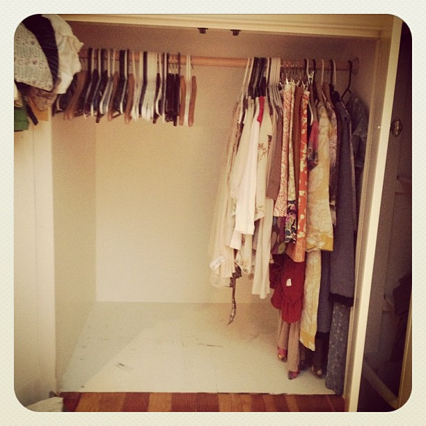 closet clean out + other tales of unraveling