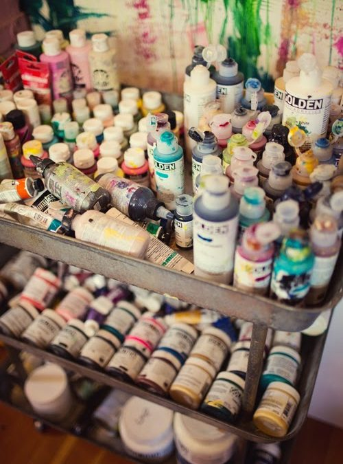 Ask Kelly Rae :: How do you keep all your supplies organized?