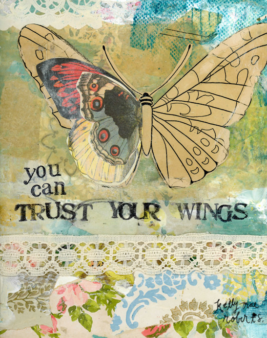 kelly rae roberts | You Can Trust Your Wings | art print