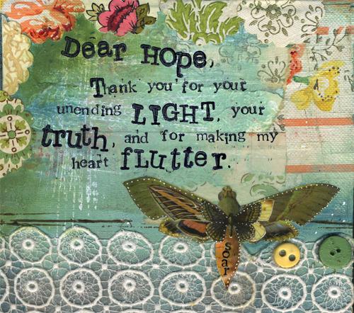 DEAR HOPE - Print - Kelly Rae Roberts - prints - Mantras