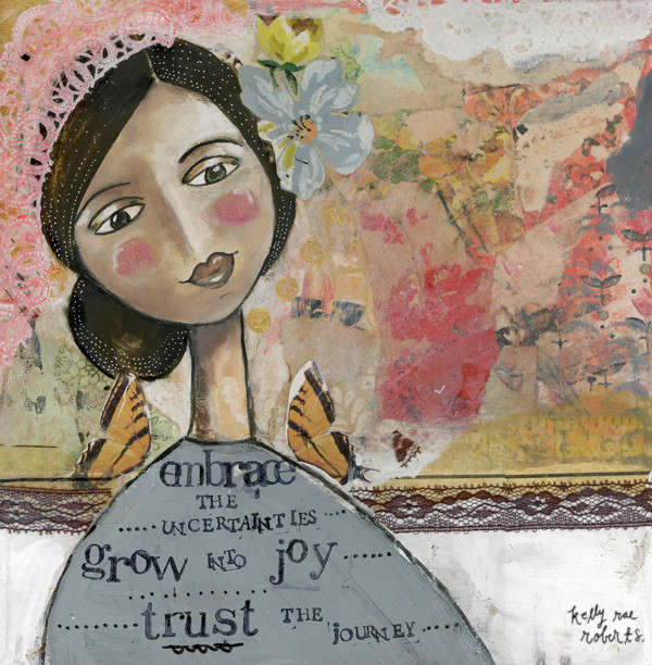 Grow Into Joy - Kelly Rae Roberts - prints - Girls