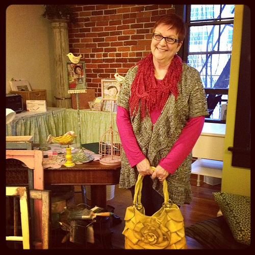 Introducing the newest addition to the KRR studio assistant team: my mom! Isn't she an adorable employee?
