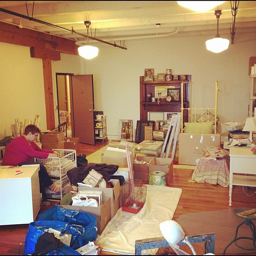 Current view. Still unpacking from move to new studio space. Making progress!