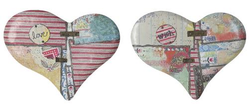 metal wall hearts