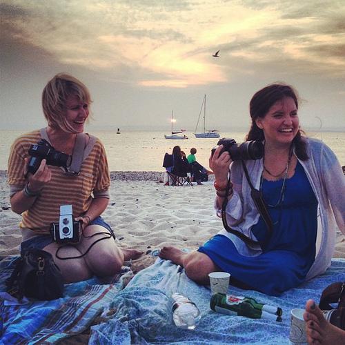@jenlemen and @traceyclark at beautiful sunset