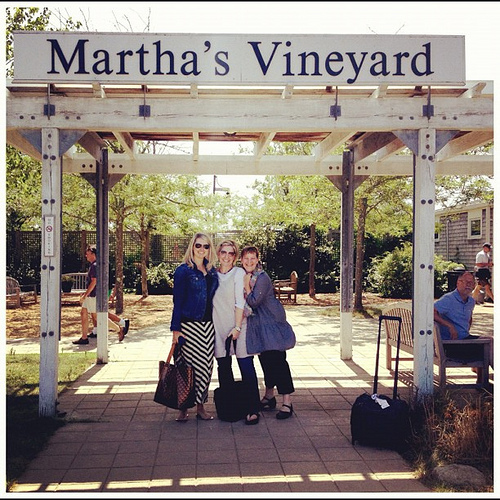 Hello Martha's vineyard. With @aliedwards @brenebrown