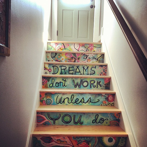 Lovely visit with @close2myart who has the coolest stairs ever!