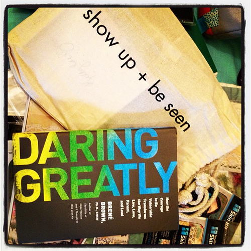 Loved coming home from vacation to this in my mailbox. @brenebrown and her new book rock.