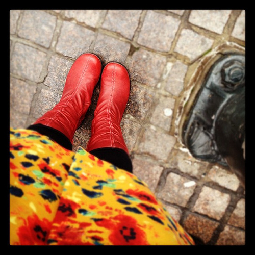 Every girl needs a pair of red shoes.