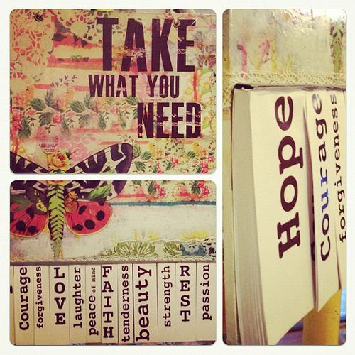Nourish Your Soul: Please Take What You Need - Kelly Rae Roberts