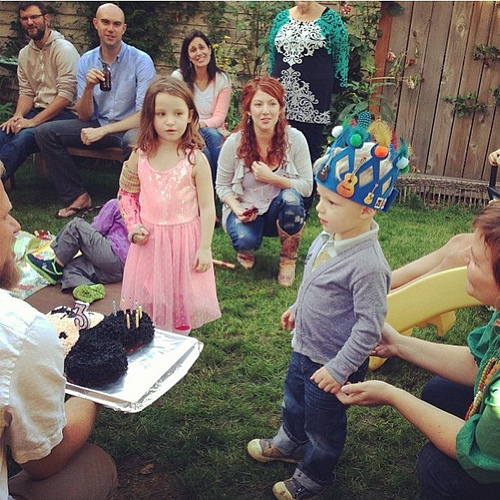You guys. My heart is still In our backyard when our little dude with his cute DIY crown celebrated turning three. His life makes my heart swell. I can hardly stand the sweetness of him. #seriously #trueelioorlando