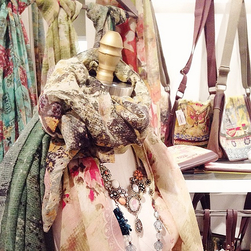 Had to share one more peek of showroom. New jewelry and fashion items (including new totes!) are awesome!