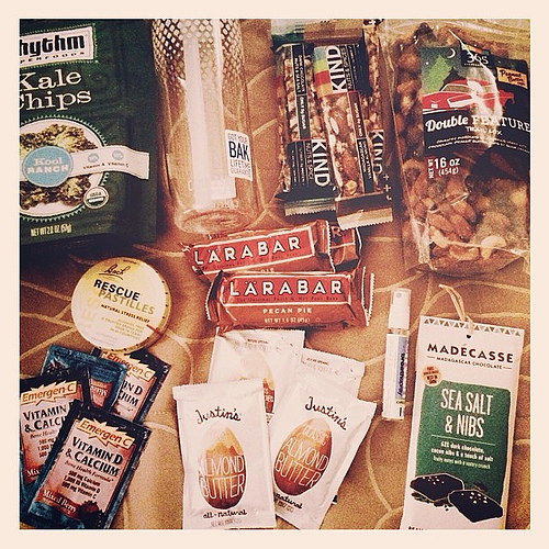 Reason #762 that I love my husband. He made me a survival pack for the Atlanta gift show. Last year was the only year in six Januaries that I did not get VERY sick. Determined to make it another low stress year at the show! It's gonna be a great kick off
