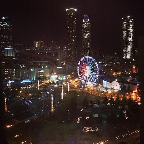 Hello Atlanta. #viewfromhere #longtravelday #pooped #ithinkitisaferriswheel