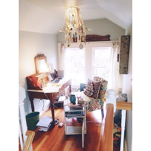 Working form home again today is another little nook. A beautifully messy nook. #headisdown #writingmyheartout #icandothis #alivelines