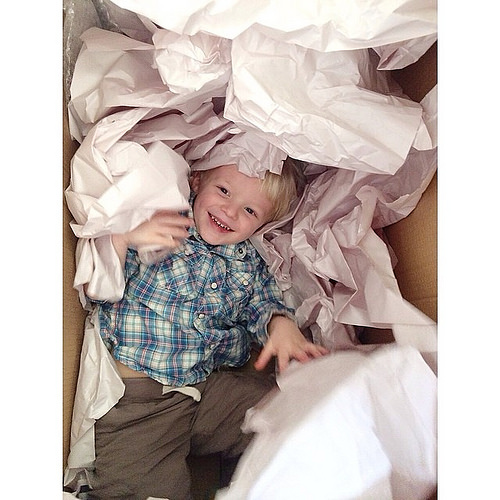 This little dude had some serious fun today in the boxes. #lovehim #lethimbelittle #trueelioorlando