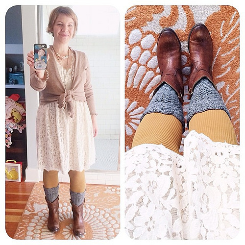 The days just start so much better on the days I practice #thewearyourjoyproject. Hello intention! Today I am especially grateful for dear soul who thought of boot cuffs. #brilliant #fun