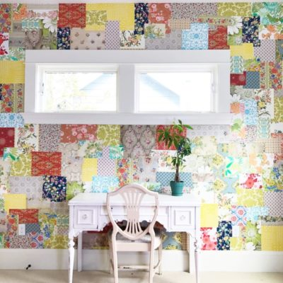 Gasp! Patchwork Wallpaper Wall For The Win!