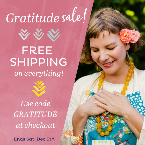 Gratitude Sale > FREE SHIPPING! Hurry, ends soon!