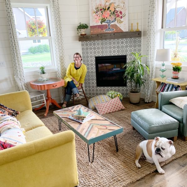 A tour of our living room! Hello, colorful farmhouse!