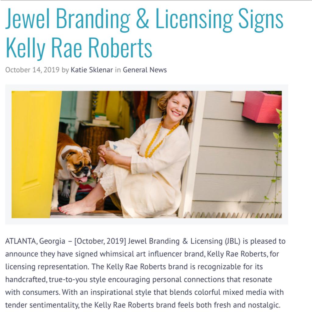 Big news: I've signed on with Jewel Branding & Licensing