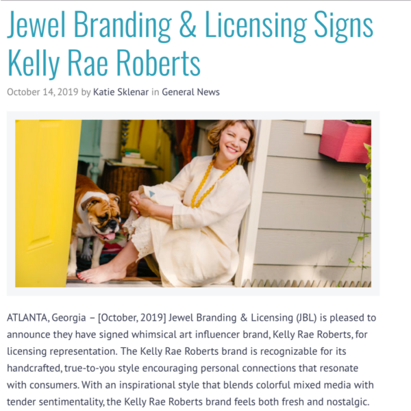 Big news: I've signed on with Jewel Branding & Licensing