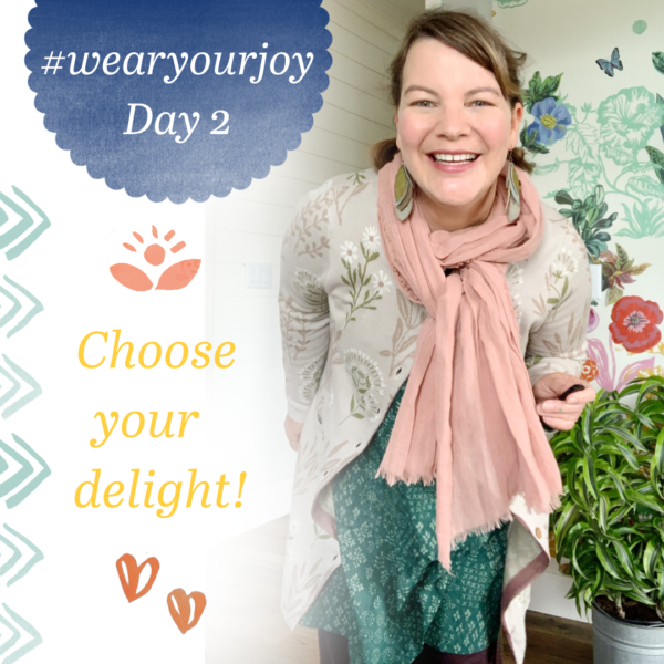 It's day 2 of our 7 day #WEARYOURJOY challenge!