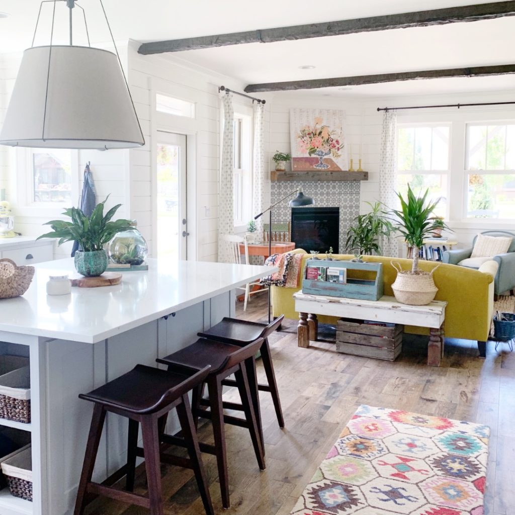 Home Tour: Our Modern Farmhouse Colorful Kitchen!