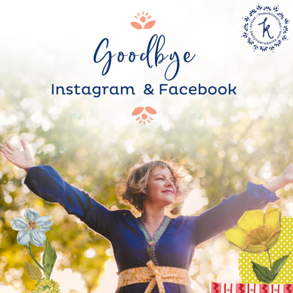 Goodbye, Instagram + Facebook